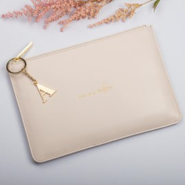 Katie Loxton Personalised 'One In A Million' Perfect Pouch In Pale Grey