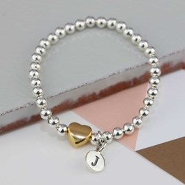 Personalised Tilly Gold Heart Bracelet