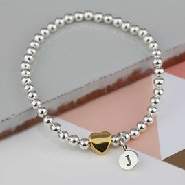 Personalised Milly Gold Heart Bracelet