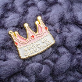 'Queen Of Christmas' Christmas Pin Badge