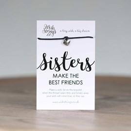 'Sisters Make The Best Friends' Heart Wish Bracelet