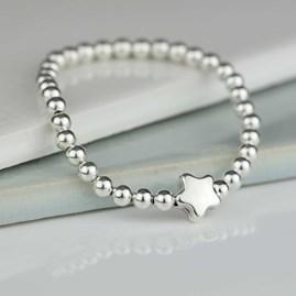 Tess Children's Silver Star Bracelet
