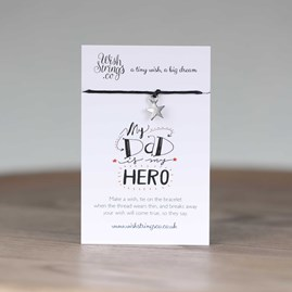 'My Dad Is My Hero' Star Wish Bracelet