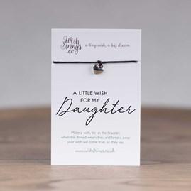 Little Wish 'Daughter' Heart Wish Bracelet