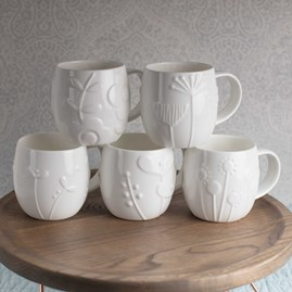 Designer Bone China Mugs