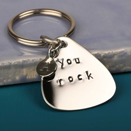 'You Rock' Plectrum Keyring