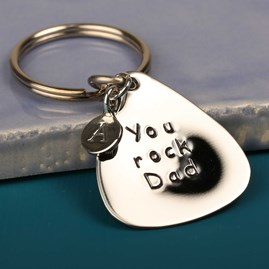 'You Rock Dad' Plectrum Keyring