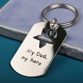 'My Dad, My Hero' Keyring