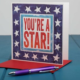 'You're A Star' Card