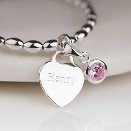Personalised Children's Birthstone Bracelet