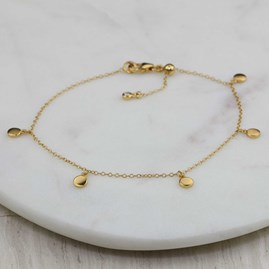 Stunning Bracelet With Five Small Discs