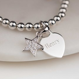 Personalised Children's Star Bead Bracelet