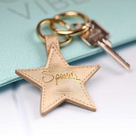 'Sparkle' Gold Star Keyring