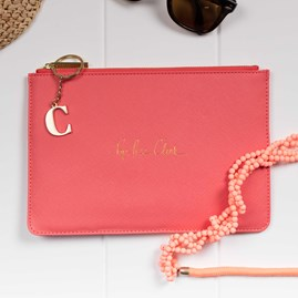 Katie Loxton Personalised 'Pop, Fizz, Clink' Pink Perfect Pouch