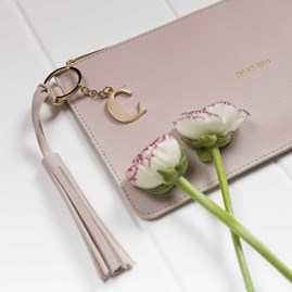 Katie Loxton Personalised 'Oh So Chic' Keepsake Clutch In Pale Grey