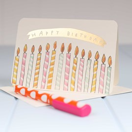 'Happy Birthday Candles' Birthday Card