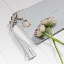 Katie Loxton Personalised 'Be You Tiful' Clutch In Powder Blue
