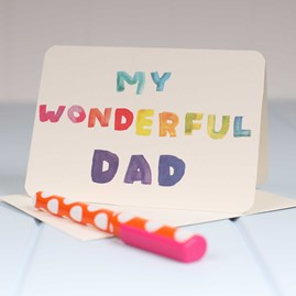 'My Wonderful Dad' Greetings Card