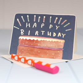 'Birthday Cake With Candles' Birthday Card