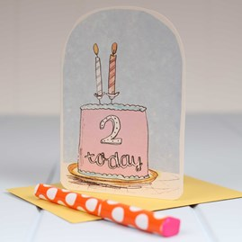 'Two Today' Birthday Card