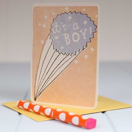 'It's A Boy' Starburst Greetings Card