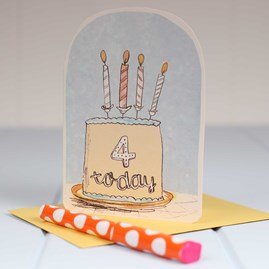'Four Today' Birthday Card
