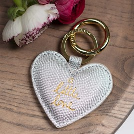 'A Little Love' Silver Keyring