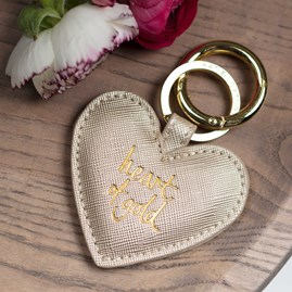'Heart Of Gold' Gold Keyring