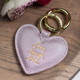 'Live, Laugh, Love' Lilac Keyring