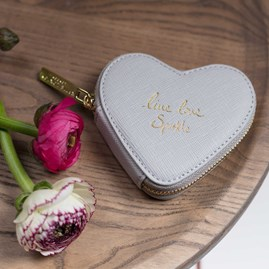 'Live, Love, Sparkle' Silver Coin Purse