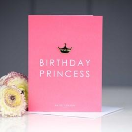 'Birthday Princess' Card With Tiara Pin