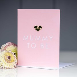 Katie Loxton 'Mummy To Be' Card With Heart Shaped Pin