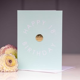 'Happy 18th Birthday' Card With Gold Pin