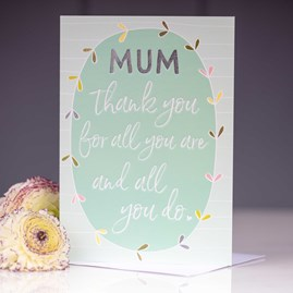 'Mum Thank You For All You Do' Greetings Card