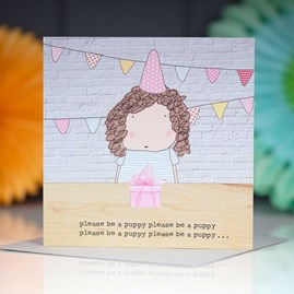 'Please Be A Puppy…' Greetings Card
