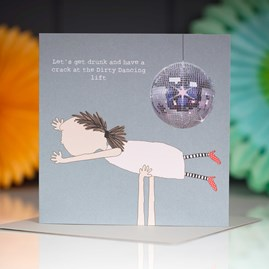 '…Dirty Dancing Lift' Greetings Card