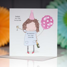 'Happy On The Outside…' Greetings Card