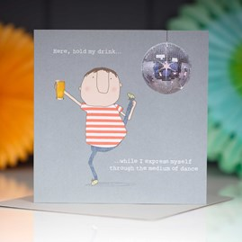 '…The Medium Of Dance' Greetings Card