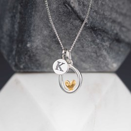 Personalised Oval Pendant With Heart