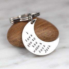 Personalised 'I Love You To The Moon And Back' Keyring