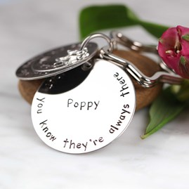 Personalised 'Sisters Are Like Stars...' Keyring