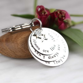 Personalised 'Mums Are Like Stars...' Keyring