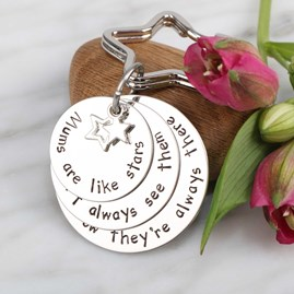 'Mums Are Like Stars...' Keyring