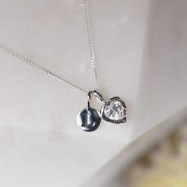 Personalised Hammered Heart Stone Pendant