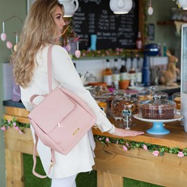Personalised Bea Back Pack In Blush Pink