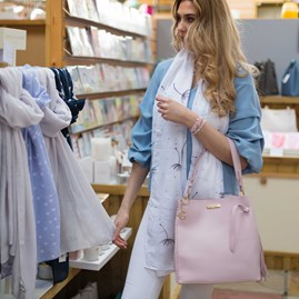 Personalised Florrie Day Bag In Pale Pink
