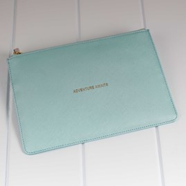 Personalised 'Adventure Awaits' Mint Perfect Pouch