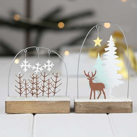 Snowy Forest Scene Christmas Decoration