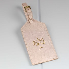 Katie Loxton Personalised 'Just Married' Luggage Tag For Newlyweds