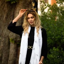 Katie Loxton 'Daydreamer' Designer Soft White Scarf